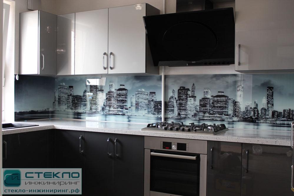 кухонный фартук стеклянный фото